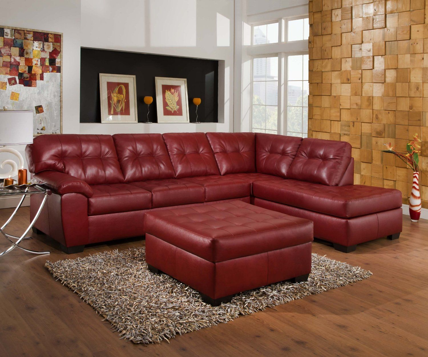 maroon couches in a room | Red Couches, Sofas and Ottomans ...