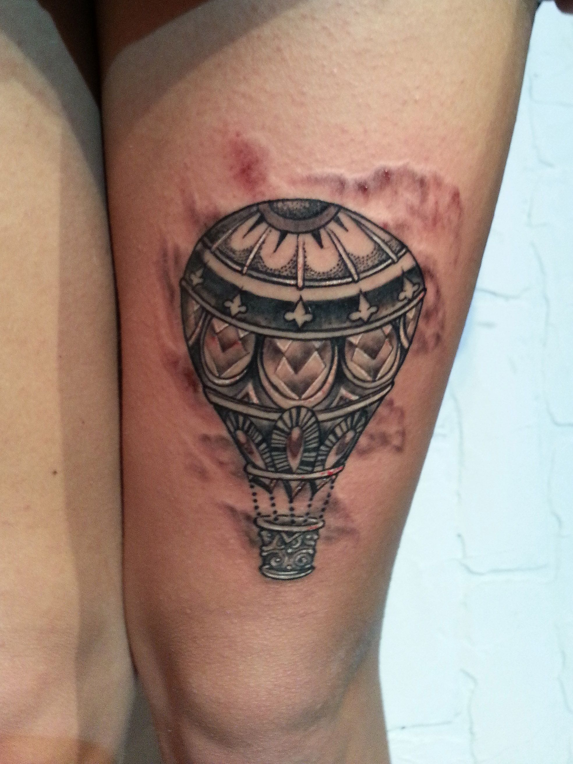 Old Hot Air Balloon Tattoo - Stylendesigns.com! | Tattoo Designs ...