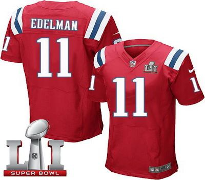 4b26abfa3 New England Patriots 11 Mens New England Patriots Julian Edelman Red With  Gold Stitched NFL Nike Elite Jersey ...