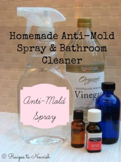 Homemade AntiMold Spray Bathroom Cleaner Mold Removal Tea Tree - Natural mold remover for bathroom