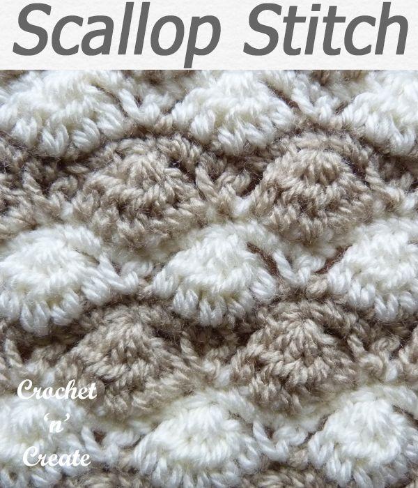 Scallop Stitch Crochet Tutorial