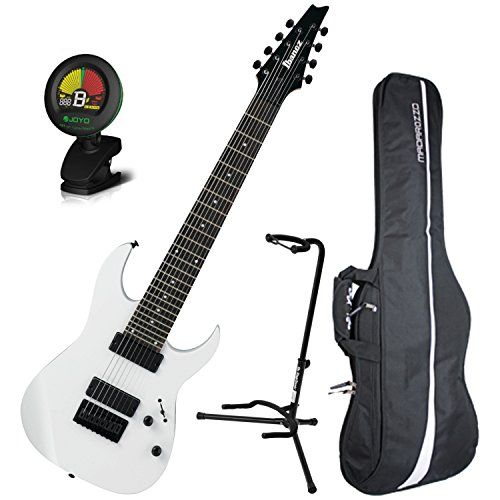 Ibanez Rg8 8 String Electric Guitar White W Gig Bag Tuner And