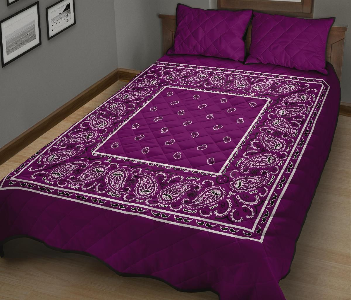 Wild Plum Bandana Bed Quilts with Shams - placeholder placeholder