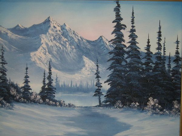 Snowy Mountain Painting Snowy Mountains By Leoneer On Deviantart Mountain Landscape Painting Mountain Paintings Mountain Painting Acrylic