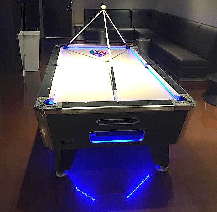 Amazing Light Up Pool Table To Rent   Game On Dallas   Game Rentals