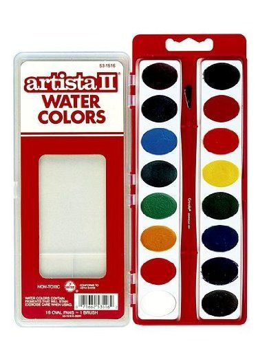 Crayola Oval Pans Watercolor Refills Black By Crayola 5 99