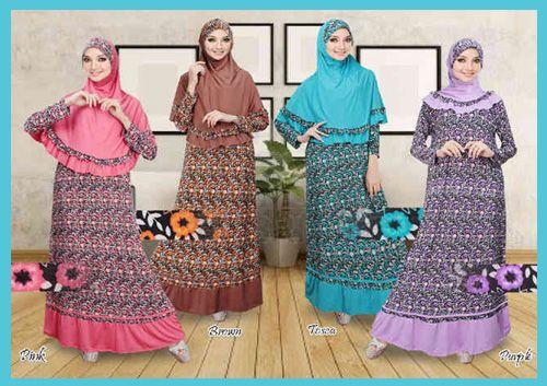 Baju Gamis Murah Motif Bunga Model Gamis Syari Saat Ini Banyak