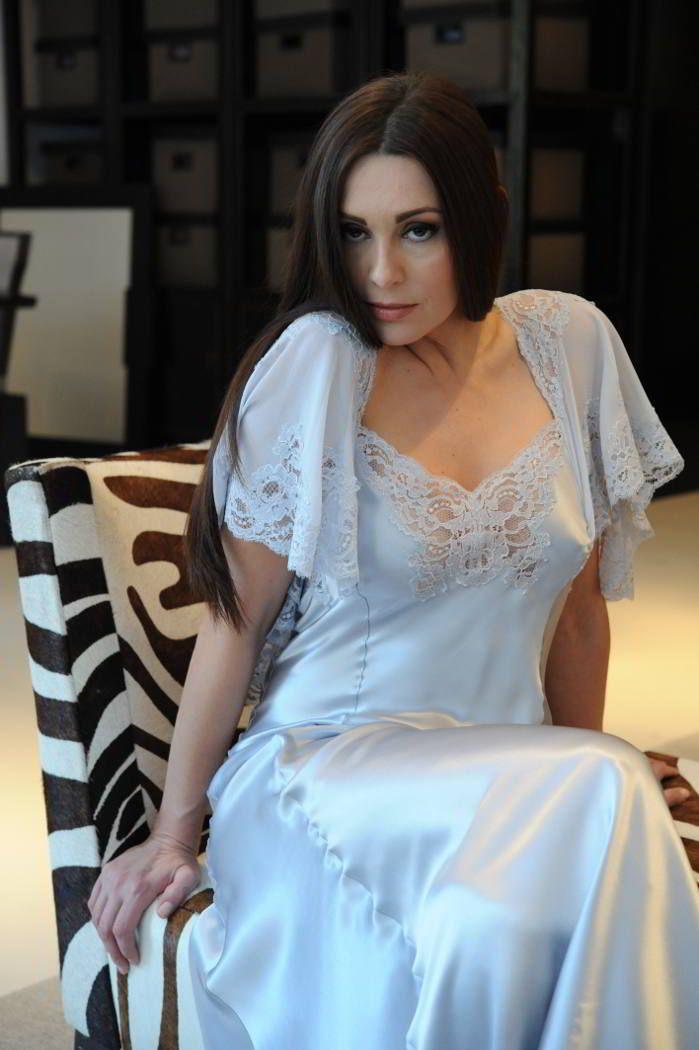 Silk & Lace Designer Nightdress - Jane Woolrich 8675 | my ...