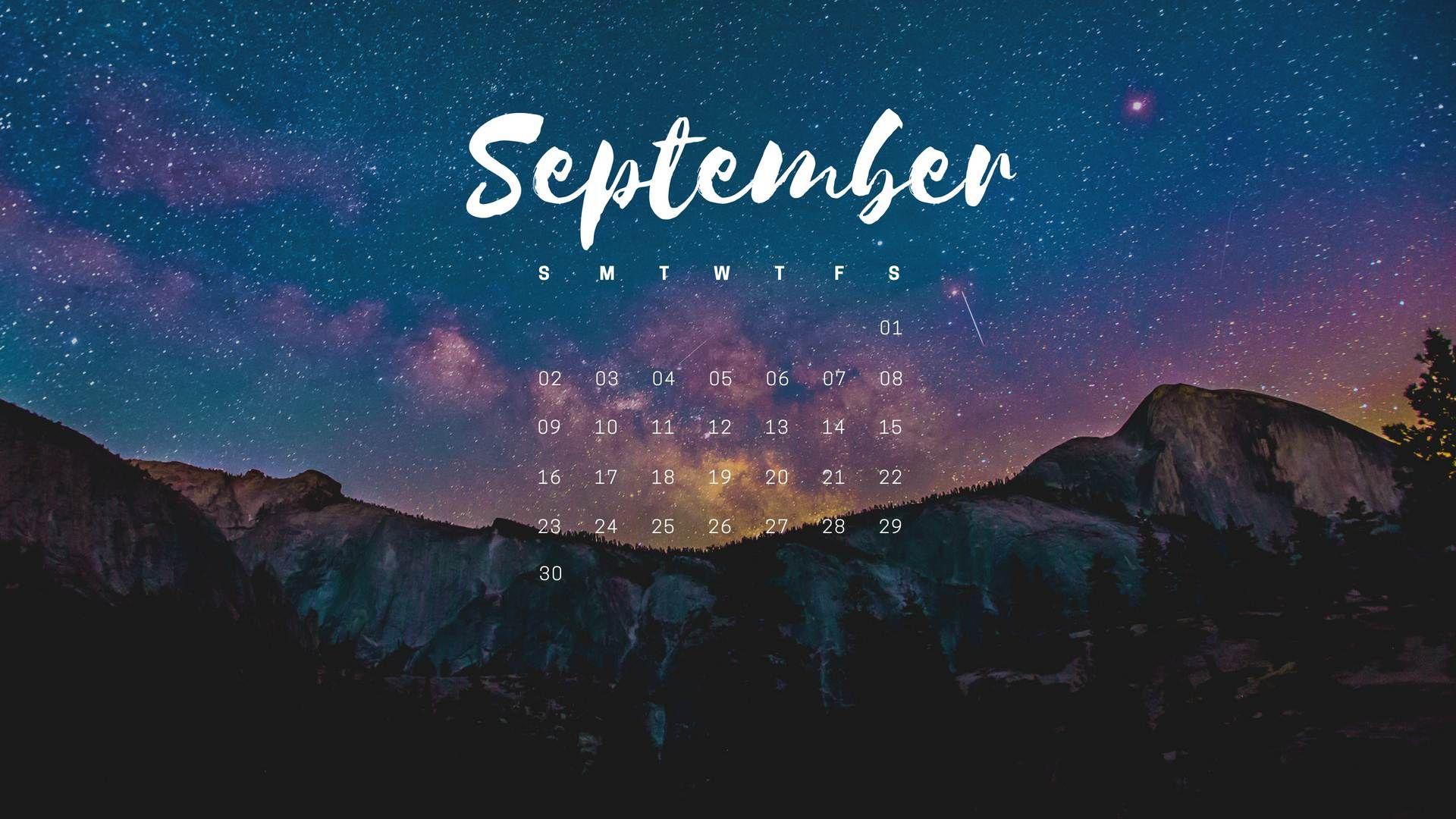 September 2018 On Screen Mobile Pc Desktop Wallpapers September Wallpaper Desktop Wallpaper Calendar Calendar Wallpaper