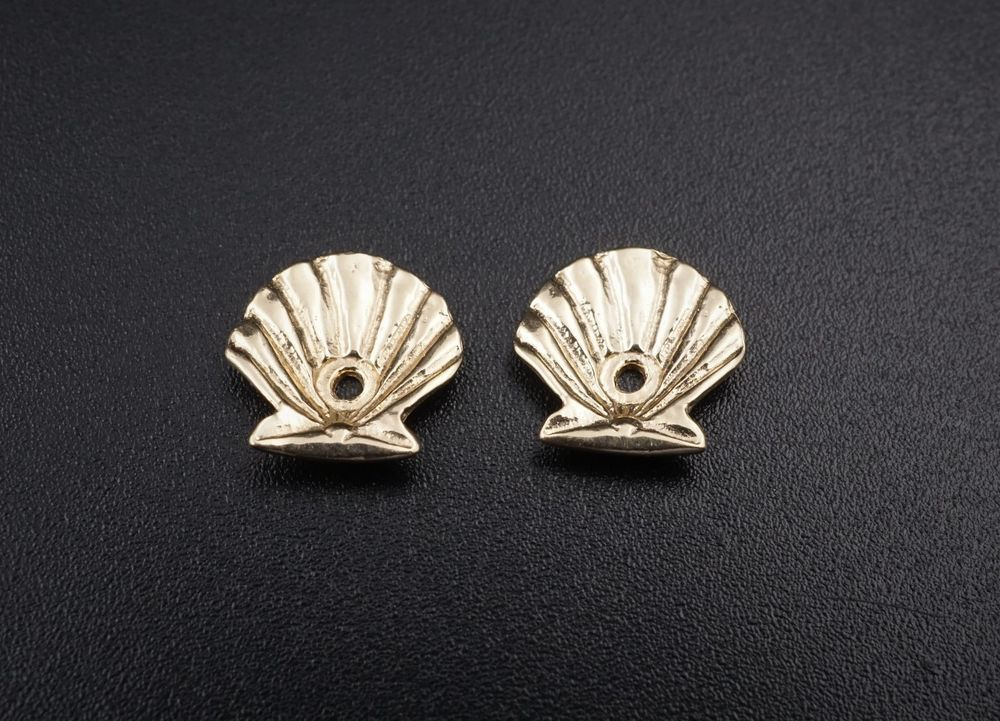 b7c9caeee Rare Retired James Avery 14k Gold Scallop Shell Stud Earring Jackets EG870 # JamesAvery #Stud