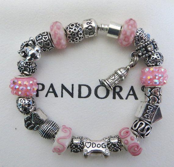 34188e3d8abb Pink Dog-Puppy ~ Authentic Pandora Sterling Silver Bracelet Receipt ...