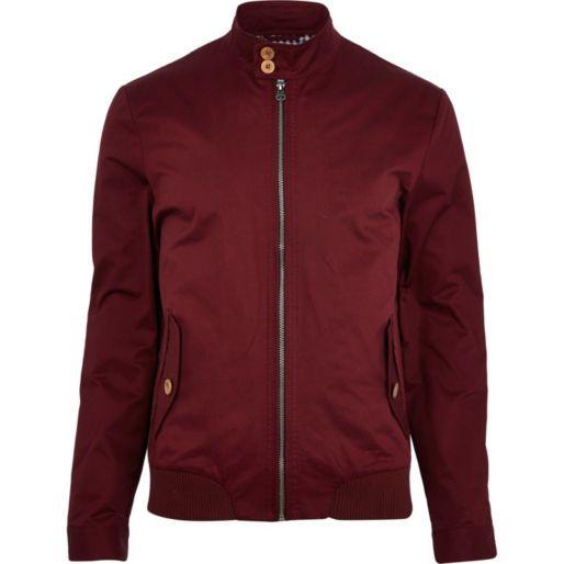 264edd0d7 Dark red harrington bomber jacket - bomber jackets - coats / jackets ...