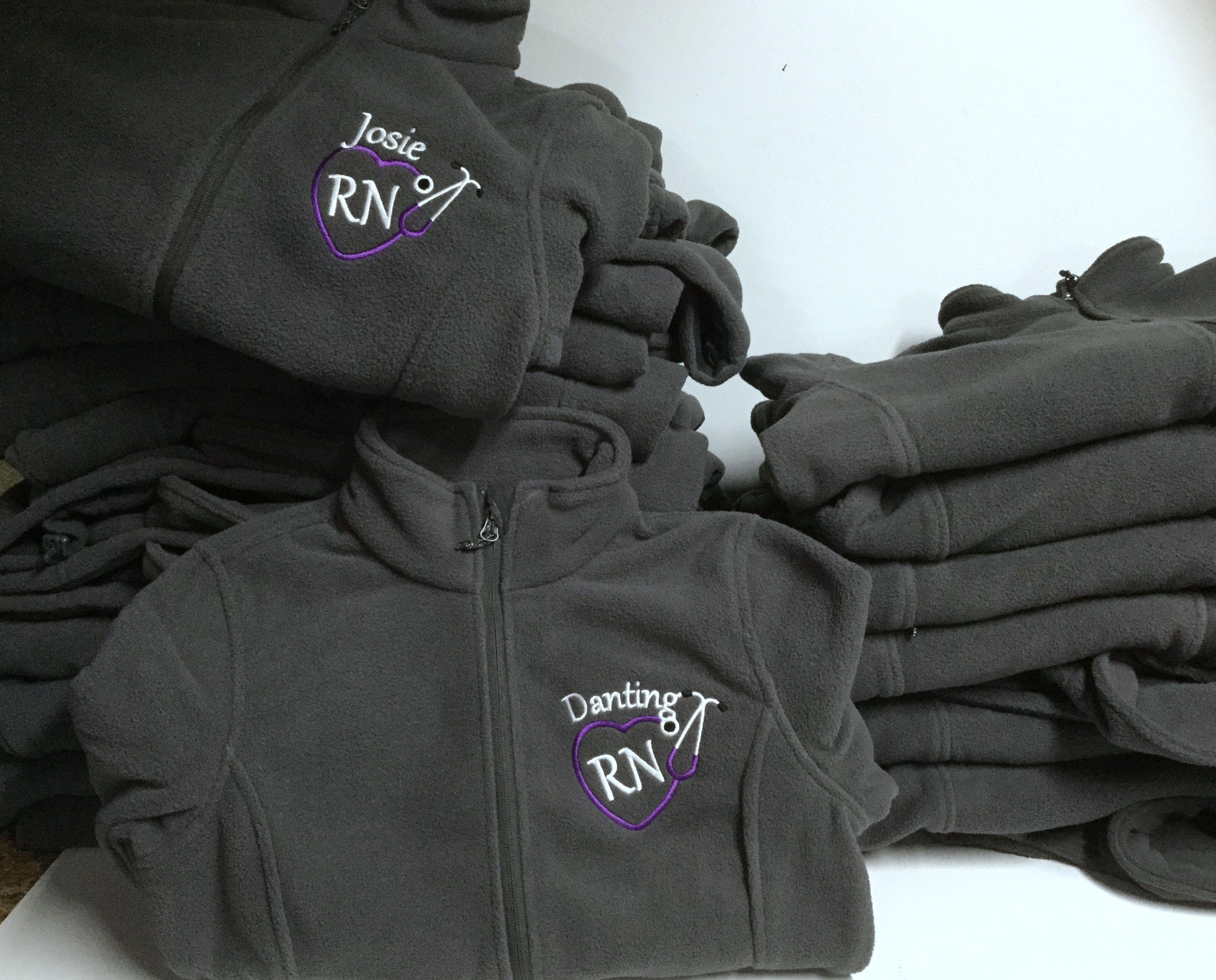 Embroidered nursing jacket, handmade gift for nurses