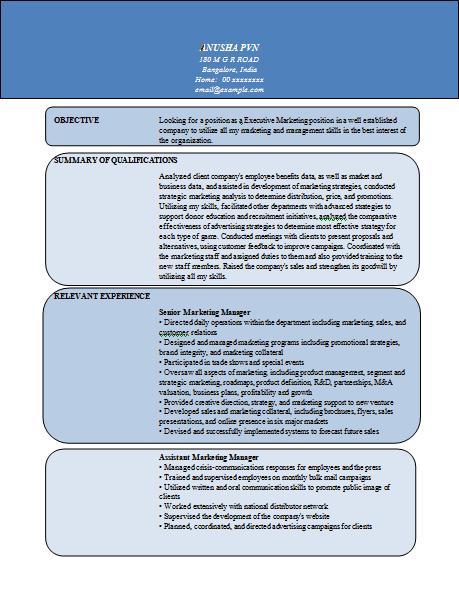 Content Rich Resume Sample for Executives (1)................see ...