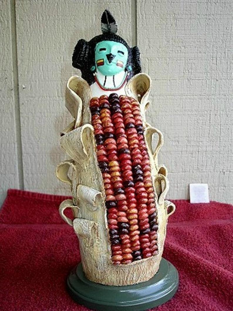 Gourd Native American Hopi Corn Maiden Kachina Gourds