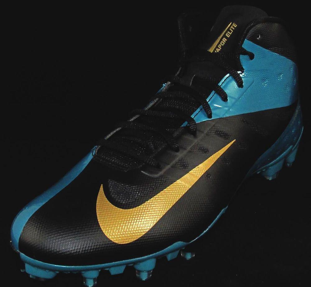Nike Vapor Talon Elite Hyperfuse 3/4 TD Football Cleats Size 14 Blue/Gold