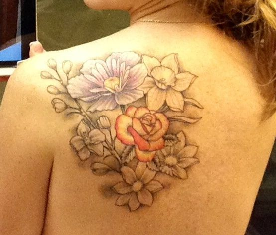 Pin By Amy Cormier On Ink Flower Tattoos Rose Tattoos Larkspur Tattoo