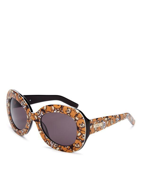 8cf1078efe24b Moschino Oversized Oval Teddy Bear Sunglasses