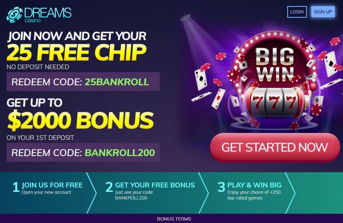 Dreams casino bonus codes 2019 in 2019 | Dreams Casino bonus pins