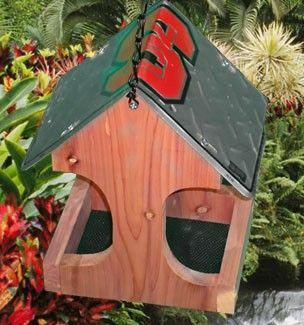North Carolina State University Wolfpack License Plate Bird Feeder