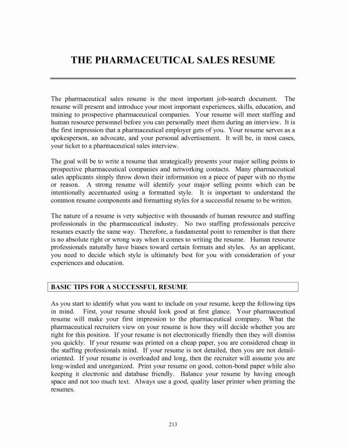 50 Elegant Entry Level Pharmaceutical Sales Resume in 2020