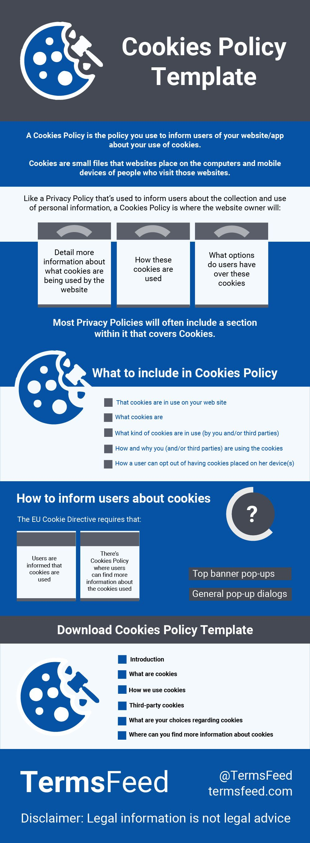 click to download a universal cookies policy template that you can customize for your personal business needs cookies policy pinterest cookies