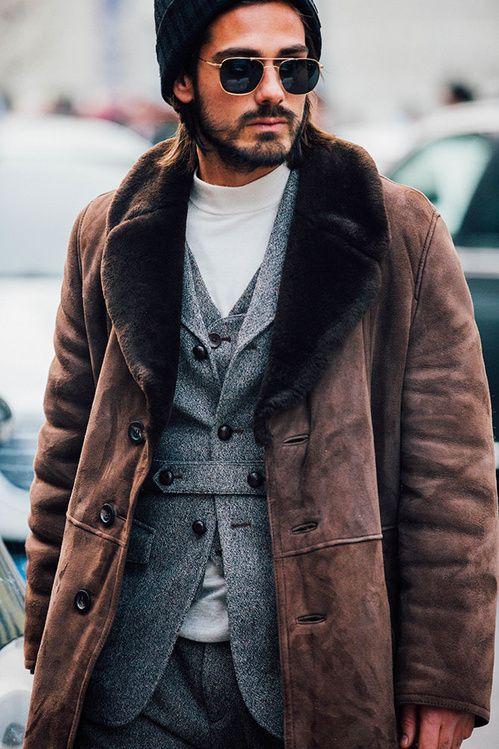 Fashion Week homme Street looks Milan automne hiver 2016 2017
