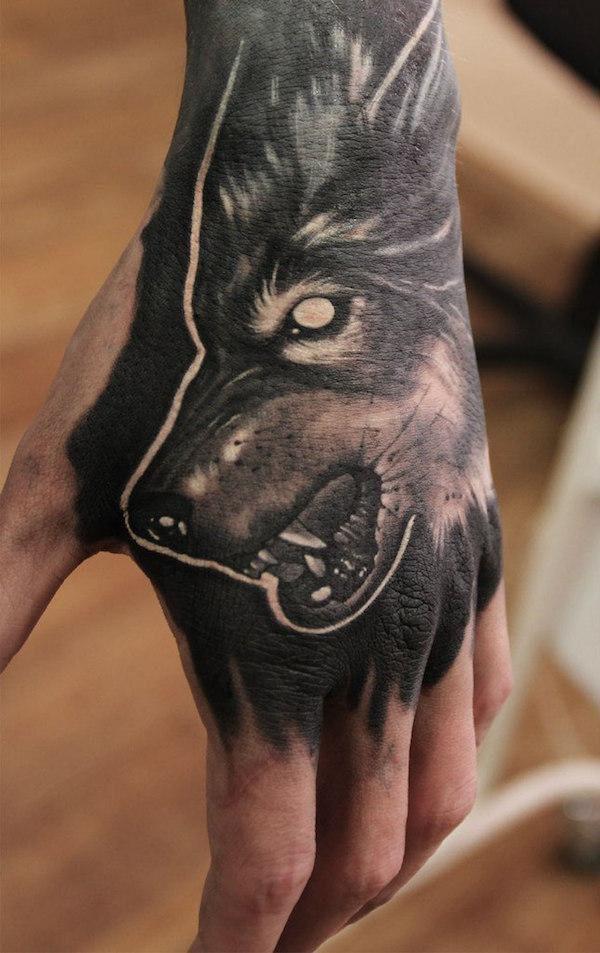 Wolf Hand Tattoo Wolf Tattoos Funny Tattoos Hand Tattoos
