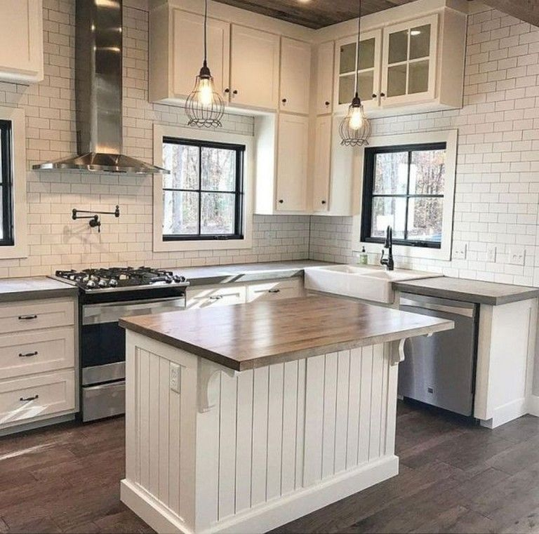 50+ Amazing Modern Farmhouse Kitchen Cabinets Decor Ideas