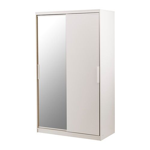 morvik armoire penderie blanc miroir ikea largeur 120 cm profondeur 60 cm hauteur 205 cm. Black Bedroom Furniture Sets. Home Design Ideas