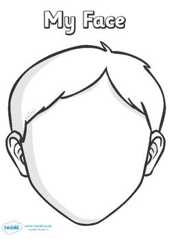 Face Template | Blank Face Templates With Face Parts School Pinterest Face