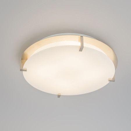 Plafón ATOMY 15W LED redondo blanco - Lámpara de techo redonda, sencilla y funcional. El cristal blanco mate recubre la fuente de luz para evitar que deslumbre. LED no reemplazable.