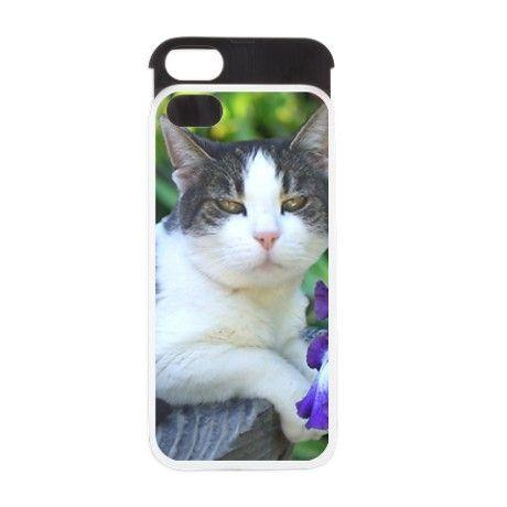 Cat in the garden iPhone 5/5S Wallet Case   #cat #kitten #cats #iphone5 #cases #case #phone #animal