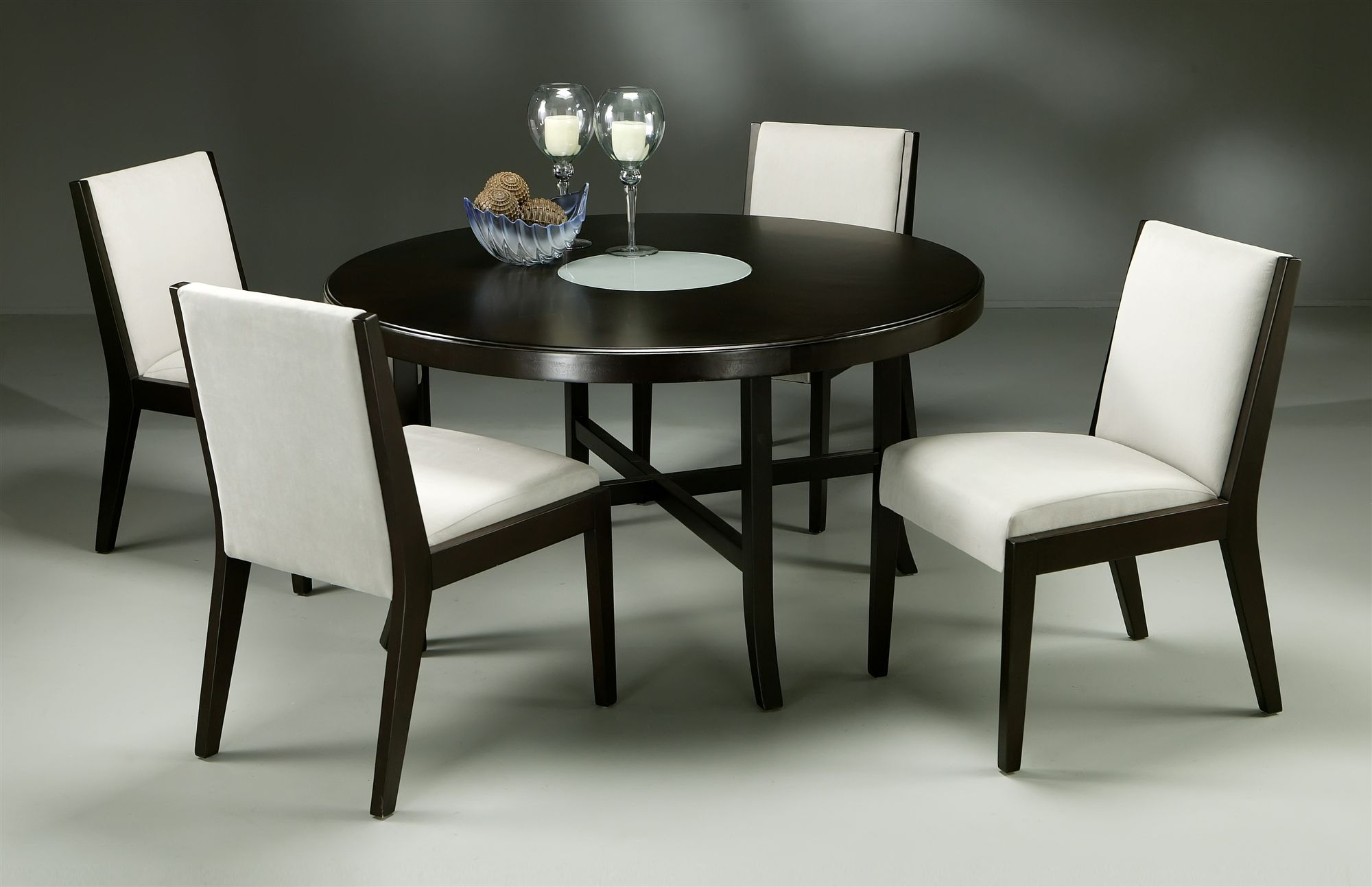 Round game tables - Wooden Round Game Table Jakarta Round Wood Dining Table In Palomino Finish W 4 Fendini