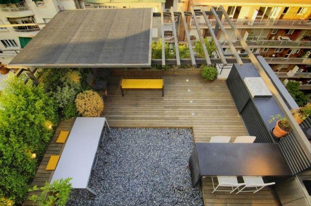 Cocina a medida para una terraza urbana terrazas for Cocinas en terrazas