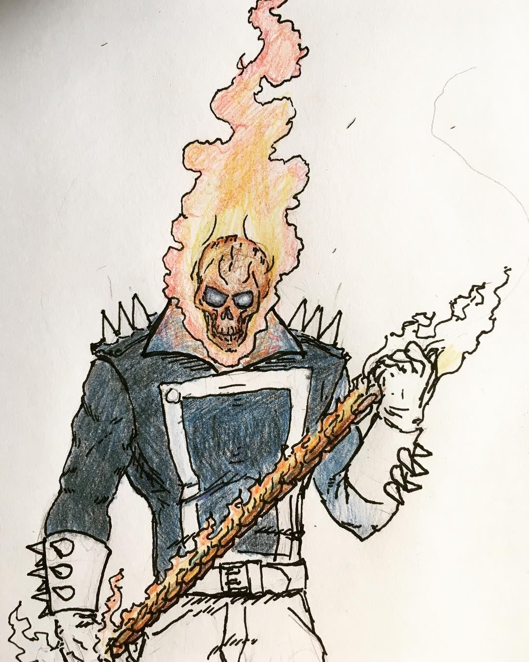 Test ghost rider i havent used colored pencils in a while thanks