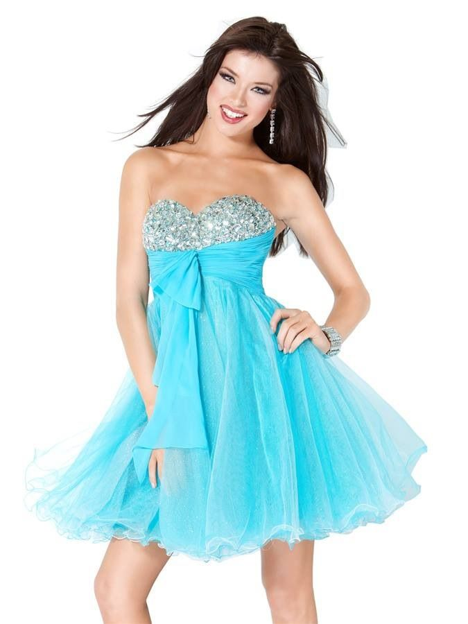 Blue short formal dress for homecoming prom or pageants! *Dazzling ...