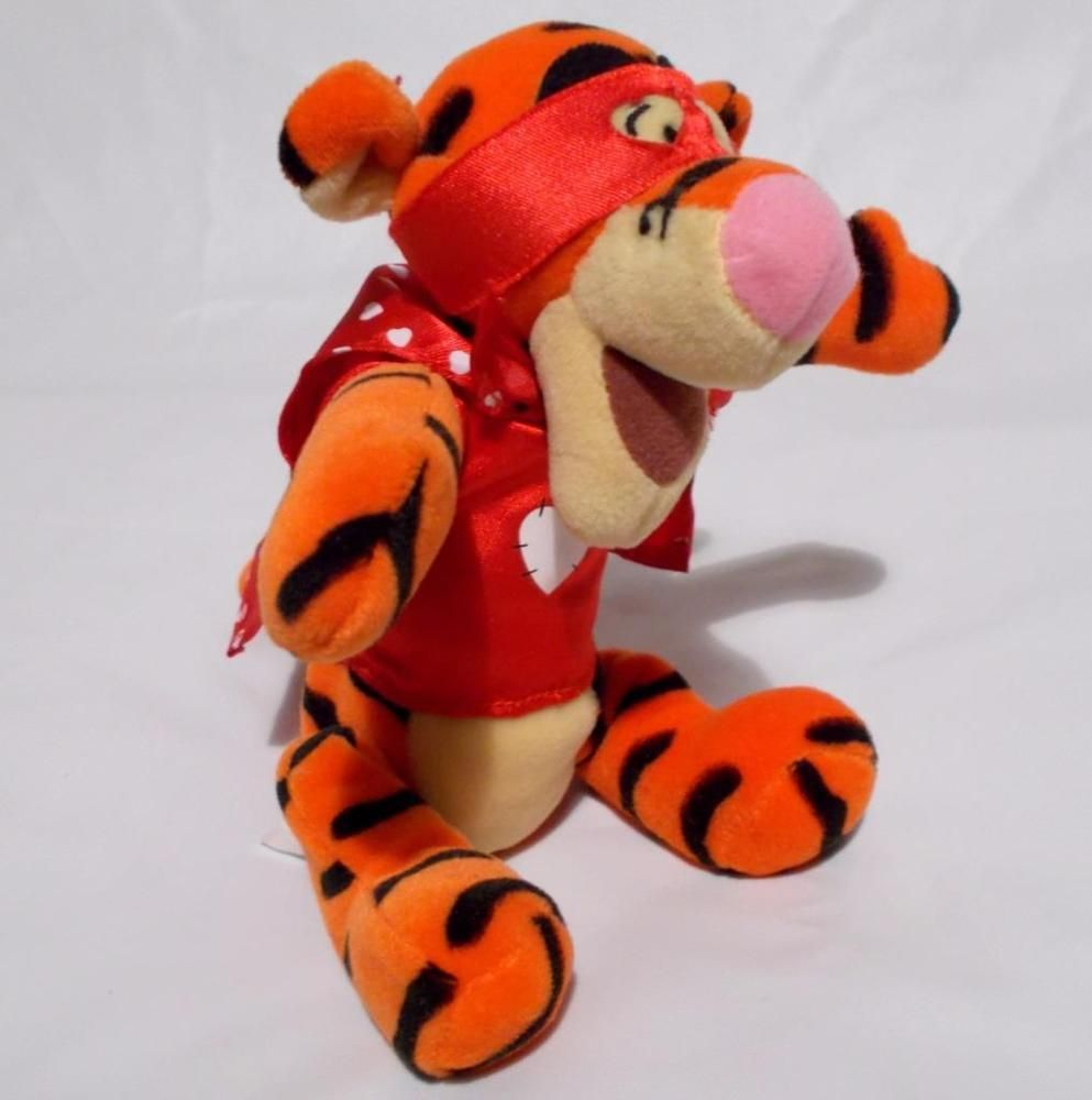 super lover tigger plush disney winnie the pooh stuffed animal valentines day disney tigger - Valentines Animals
