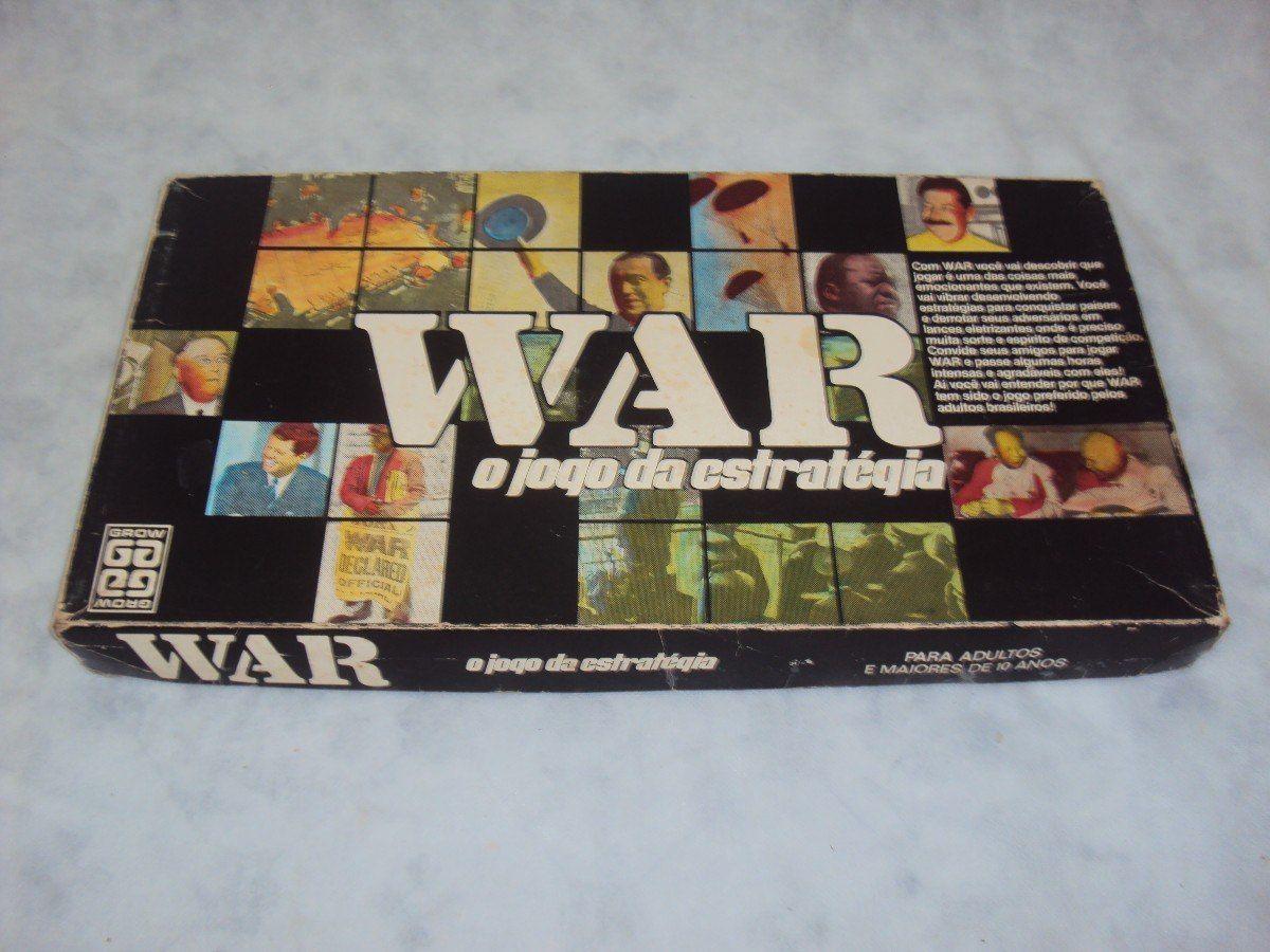 Brinquedo Antigo War O Jogo De Estrategia Da Grow R 70 00 Brinquedos Antigos Jogos De Estrategia Brinquedos