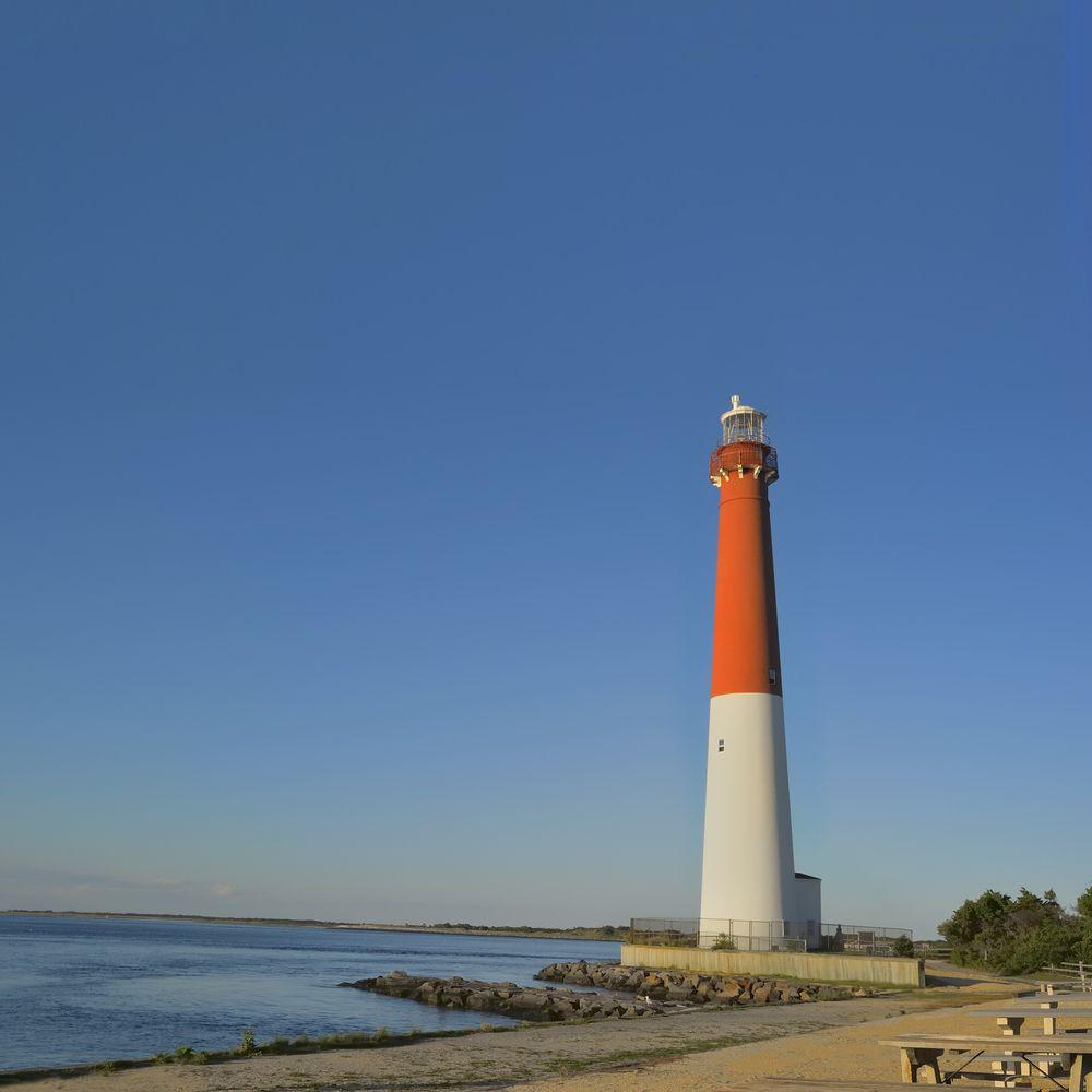 Long Beach Island New Jersey: Barnegat Lighthouse At Barnegat State Park, Long Beach
