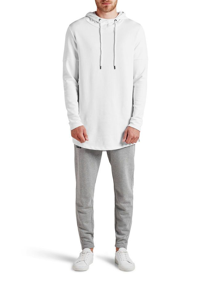 LÅNG HOODIE, White, large