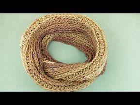 Heute Häkel Ich Einen Schönen Loop Schal Aus Nur Einem Knäuel Wolle