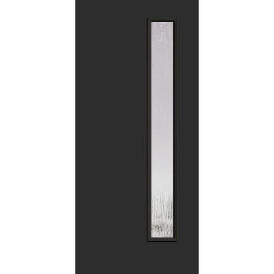 Builder S Choice Inkwell 1 Lite Rain Glass Painted Fiberglass Entry Door With Brickmould Hdx164143 The Home Depot Fiberglass Entry Doors Doors Entry Doors