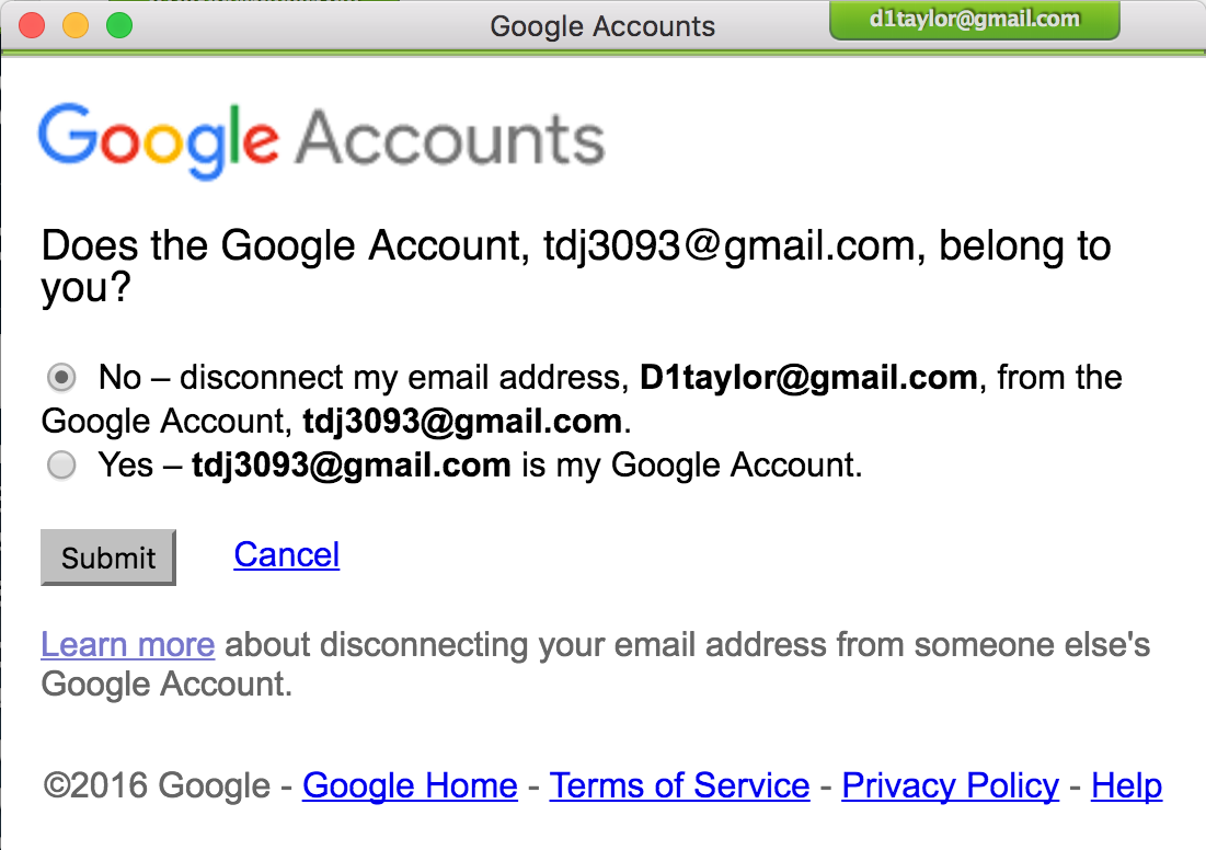 Got An Email From Google Saying An Unknown Account Is Now Connected To Your Gmail Address Here S What S Going On Accounting My Google Account My Email Address