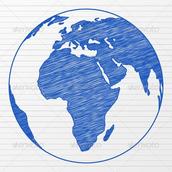 Drawing world globe globe sketches and drawings drawing world globe gumiabroncs Image collections