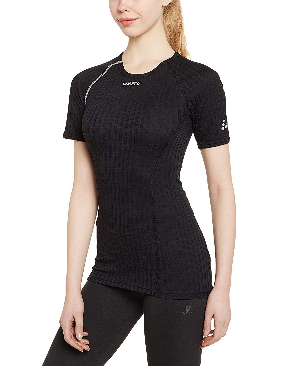 Women's Active Extreme Short Sleeve Base Layer Wicking Shirt -  Black/Platinum - CV11SO86S9J Size X-Small | Wicking shirt, Stylish clothes  for women, Women