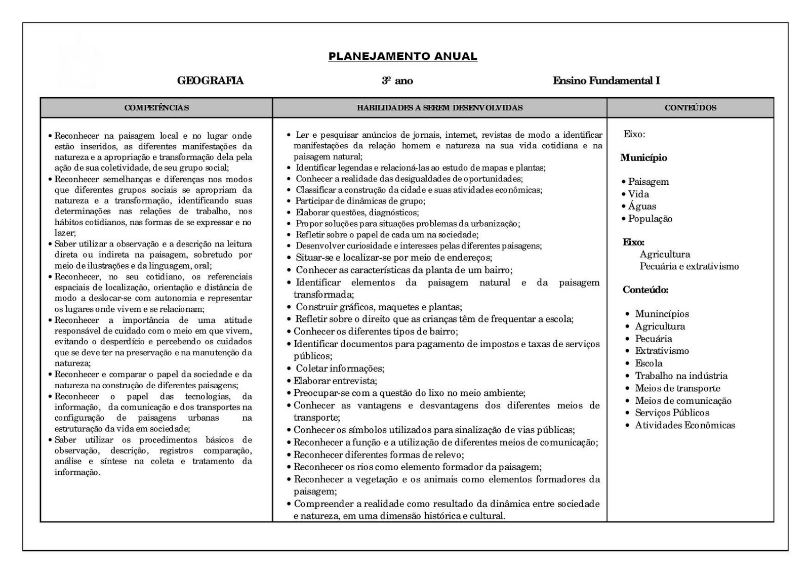 Well-known Atividades para imprimir - Planejamento Anual - Atividades para  TD82