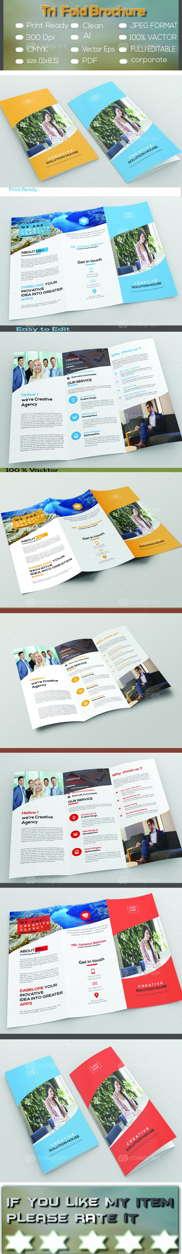 Trifold Brochure on @codegrape. More Info: http://www.codegrape.com/item/trifold-brochure/8533