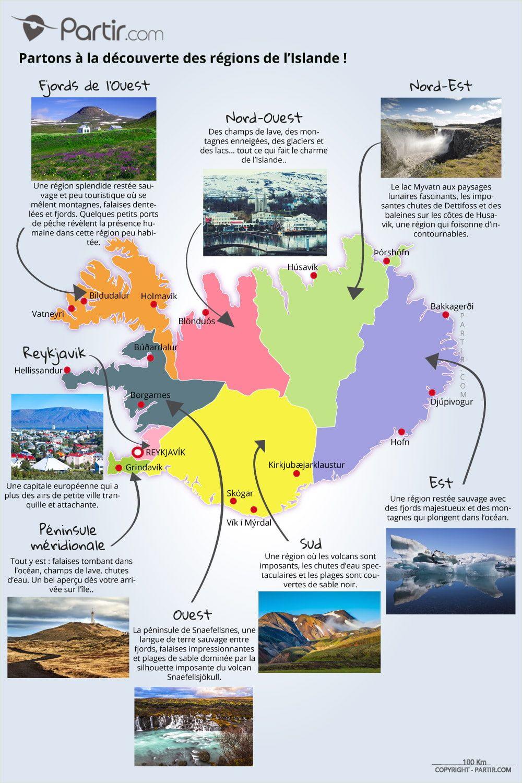 8 Regions Touristiques Carte Islande Voyage Islande Voyage En Islande