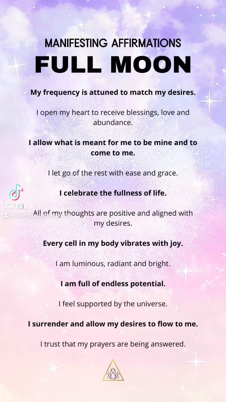 Full Moon Affirmations 🌝